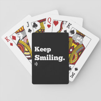 Motivational Keep Smiling Playing Cards