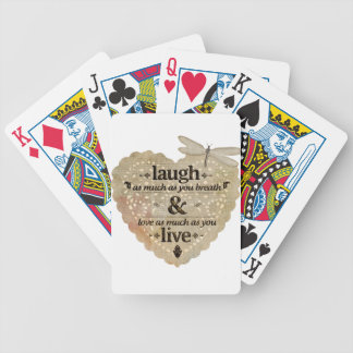 motivational laugh love bicycle playing cards