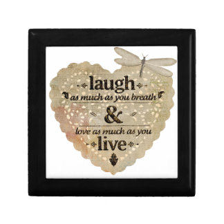 motivational laugh love gift box