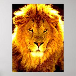 Motivational Leadership Lion Pop Art Poster