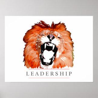Motivational Leadership Lion Pop Art Poster Print