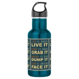 Motivational Life Advice 532 Ml Water Bottle