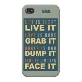 Motivational Life Advice cases iPhone 4/4S Case