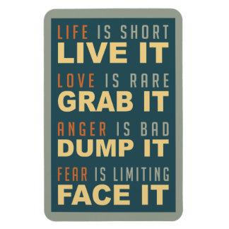 Motivational Life Advice magnet