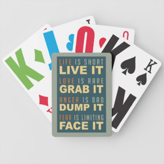 Motivational Life Advice playing cards