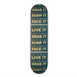 Motivational Life Advice skateboards
