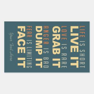 Motivational Life Advice stickers