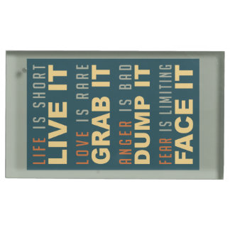 Motivational Life Advice table card holder
