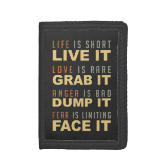 Motivational Life Advice wallets