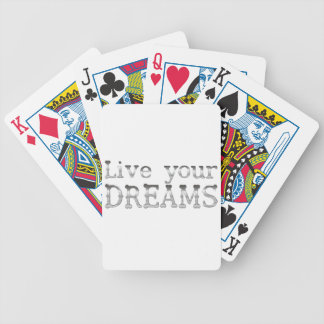 motivational live your dreams poker deck