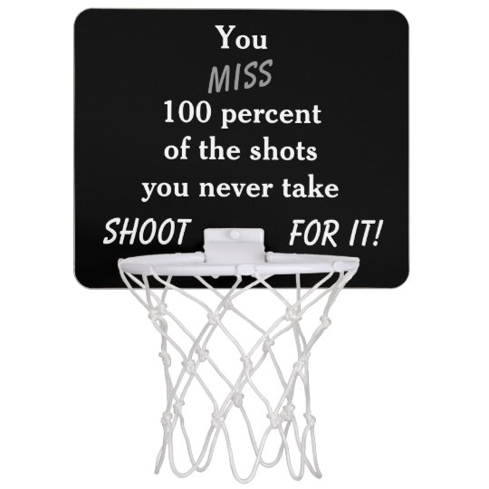 Motivational Mini Basketball Hoop
