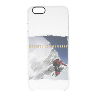 Motivational mountain climber clear iPhone 6/6S case