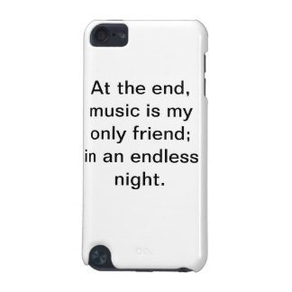 Motivational music quote iPod case