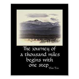 motivational nature poster zen quote the journey