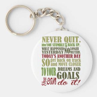 Motivational: Never Quit Key Ring