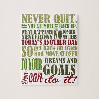 Motivational: Never Quit Puzzles