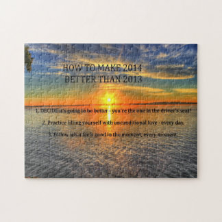 Motivational New Year Resolution Jigsaw Puzzle