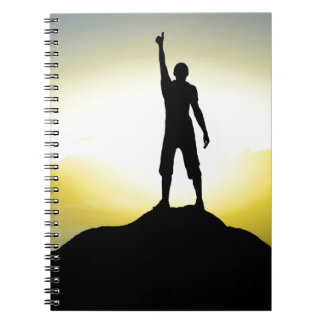 Motivational notebook with spiral
