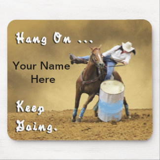 Motivational Personalized Rodeo Mousepad