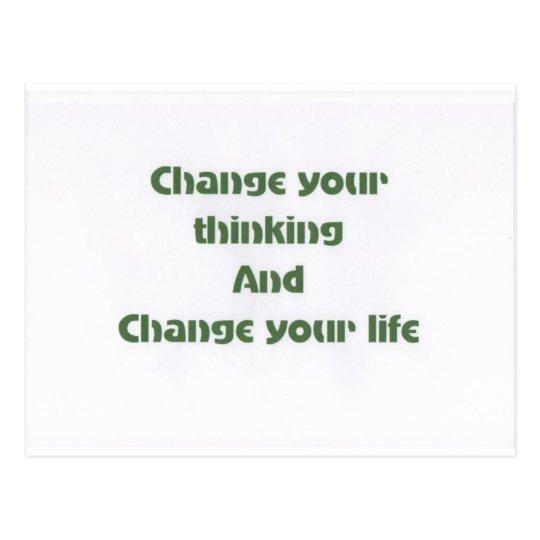 Motivational Phrases Postcard