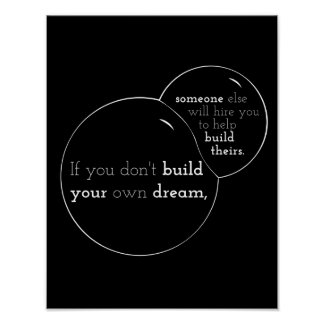 Motivational poster quoting If you don t build