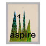 motivational poster text art bird abstract modern