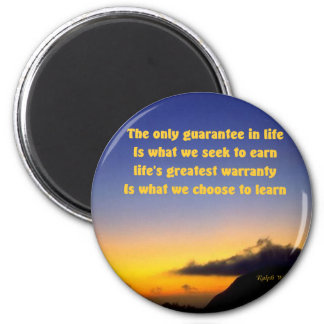Motivational quotation 6 cm round magnet