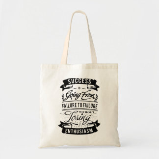 Motivational Quote about success(black) tote bag