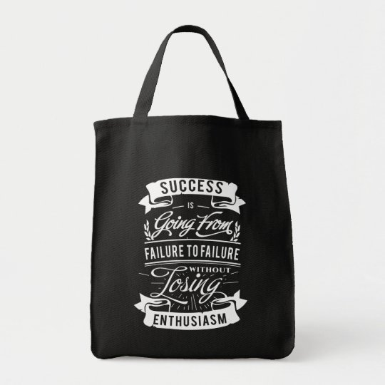 Motivational Quote about success tote bag