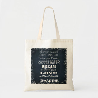 Motivational Quote Affirmations Budget Tote Bag
