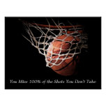Motivational Quote Basketball Poster