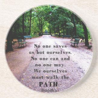 Motivational Quote Buddha inspirational Beverage Coasters