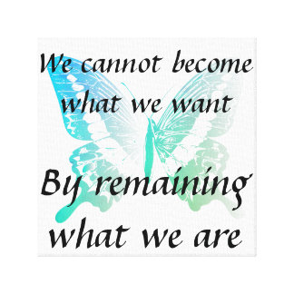 Motivational Quote Canvas with Butterfly