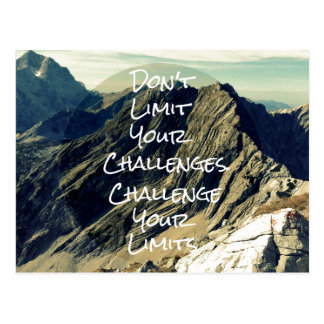 Motivational Quote: Challenge Your Limits Postcard