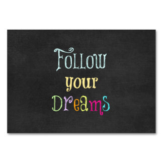 Motivational Quote: Follow Your Dreams Card