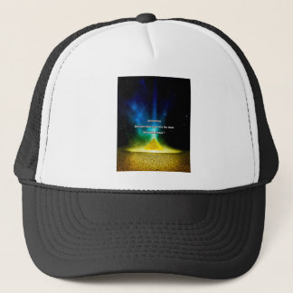 Motivational Quote Gold Trucker Hat