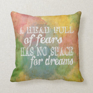 Motivational quote, inspirational quote cushion