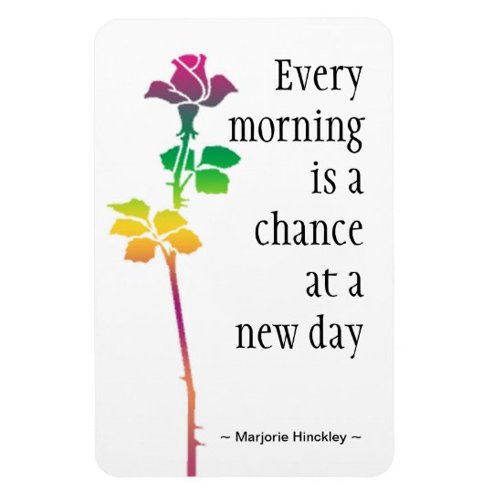 Motivational Quote Magnet : New Day