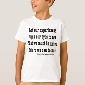 #Motivational quote on #unity Tshirt