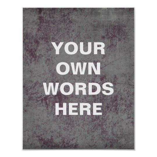 Motivational Quote Poster, distressed blue purple Poster