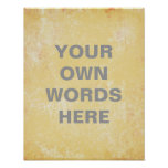 Motivational  Quote Poster, yellow grunge