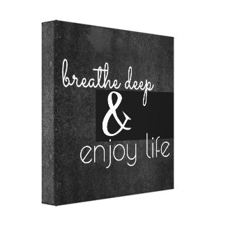 motivational quote wrapped canvas wall art