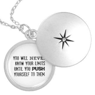 Motivational Quote: You will never know your limit Silver Plated Necklace
