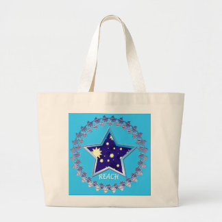 "Motivational""Reach for the Stars""Tote Jumbo Tote Bag"