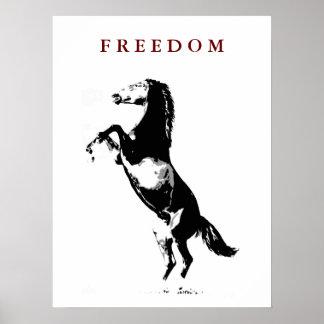 Motivational Rearing Horse Pop Art Poster