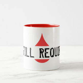 Motivational REFILL REQUIRED Red Graphical Drop Two-Tone Mug