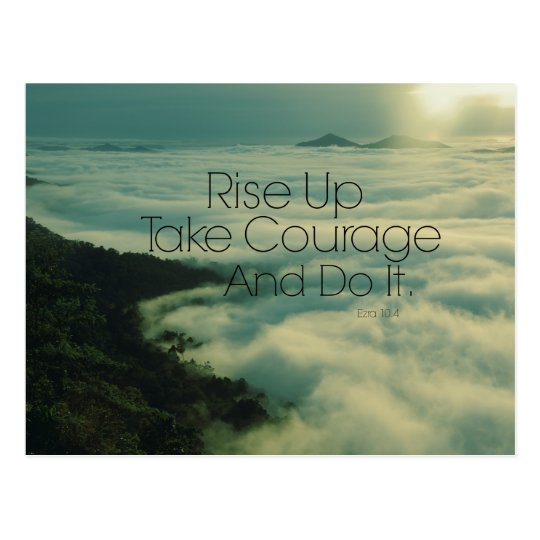 Motivational Rise Up Bible Verse Postcard