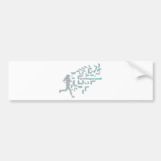 Motivational Running Bumper Sticker