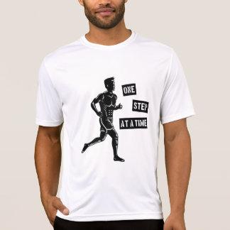 Motivational Running Man Quote Black T-Shirt