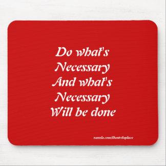 Motivational slogans mouse pad
